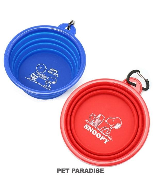 PET PARADISE スヌーピー 携帯マルチボウル シリコン製 折り畳みタイプ 赤