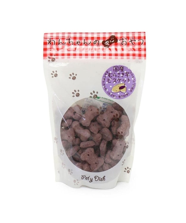 PET PARADISE 犬 おやつ 国産 フード ペットパラダイス 犬 おやつ 国産 紫いも ビスケット 100g   オヤツ むらさきいも 紫芋 紫イモ ムラサキイモ クッキー