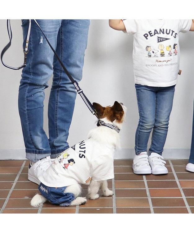 PET PARADISE スヌーピー フレンズTシャツ 白 〔中・大型犬〕