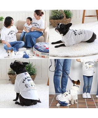 PET PARADISE 【愛犬とお揃い】スヌーピー フレンズTシャツ 白 ユニセックス 白~オフホワイト