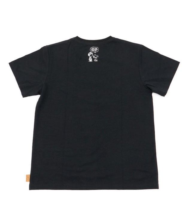 PET PARADISE 【愛犬とお揃い】スヌーピー フレンズTシャツ 黒 ユニセックス