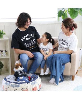 PET PARADISE 【愛犬とお揃い】スヌーピー フレンズTシャツ 白 キッズサイズ 白~オフホワイト