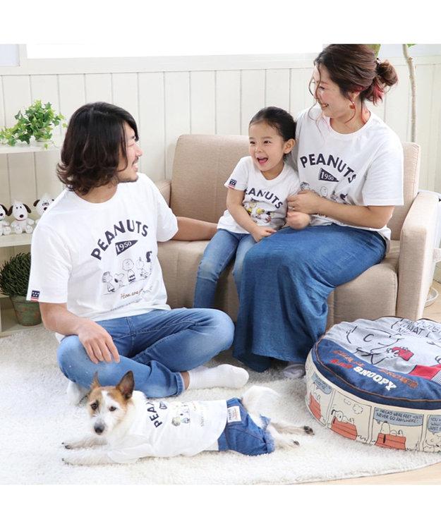 PET PARADISE 【愛犬とお揃い】スヌーピー フレンズTシャツ 白 キッズサイズ