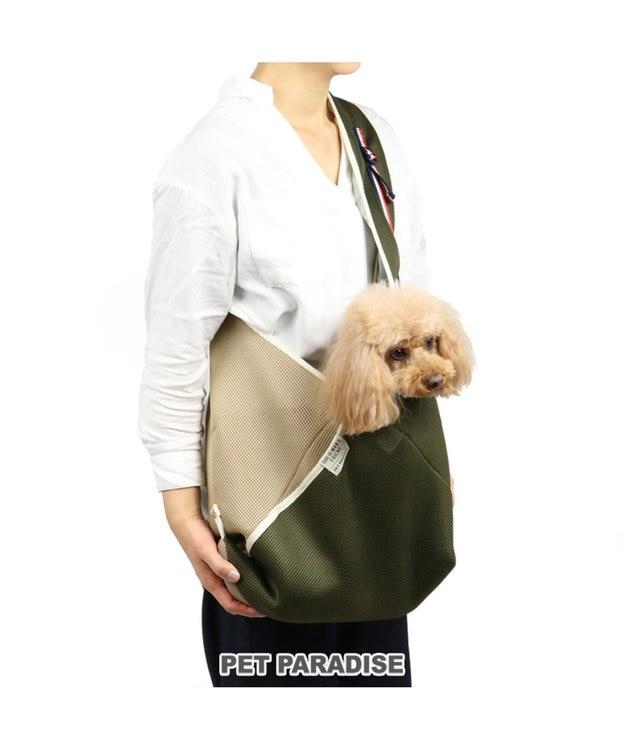 PET PARADISE ペットパラダイス 39メッシュ ペットスリング カーキ キャリー〔小型犬〕