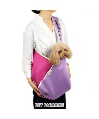 PET PARADISE ペットパラダイス 39メッシュ ペットスリング 桃 キャリー〔小型犬〕 ピンク(淡)