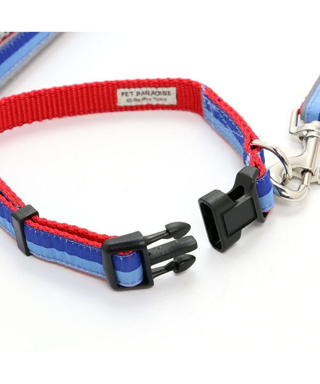PET PARADISE ペットパラダイス 切替首輪&リード 青 〔小型犬〕 ペット4S/3S/SS/S 犬具