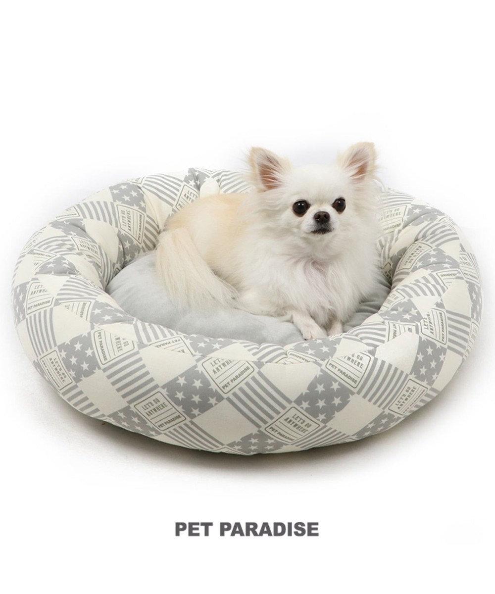 PET PARADISE ペットパラダイス ペットカドラー 丸型  グレー