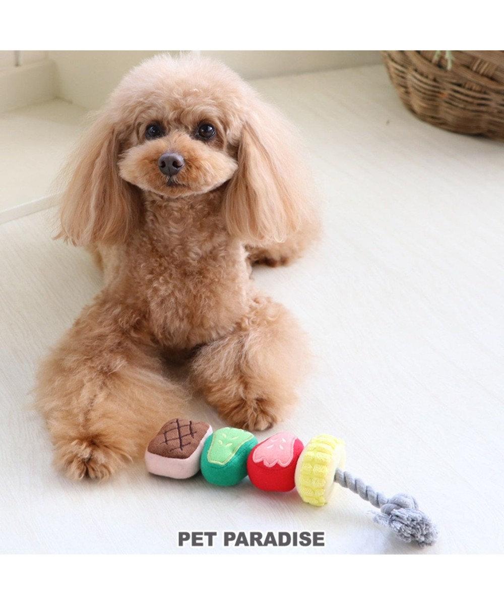 PET PARADISE なりきりペッツ 犬用おもちゃ  BBQ串 トイ 茶系