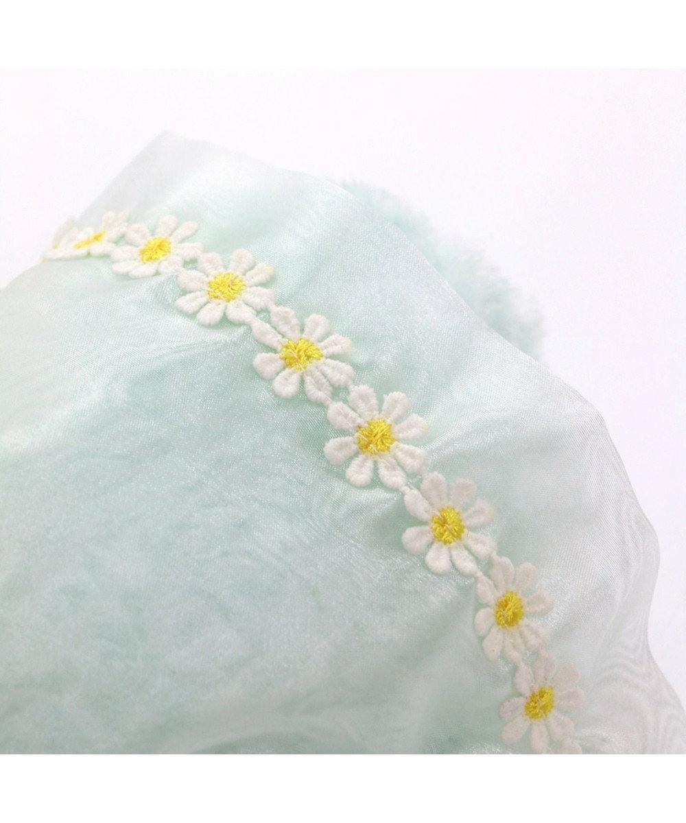 Mother garden しろたん 花束マスコット 22cm 水色 ぬいぐるみ 0