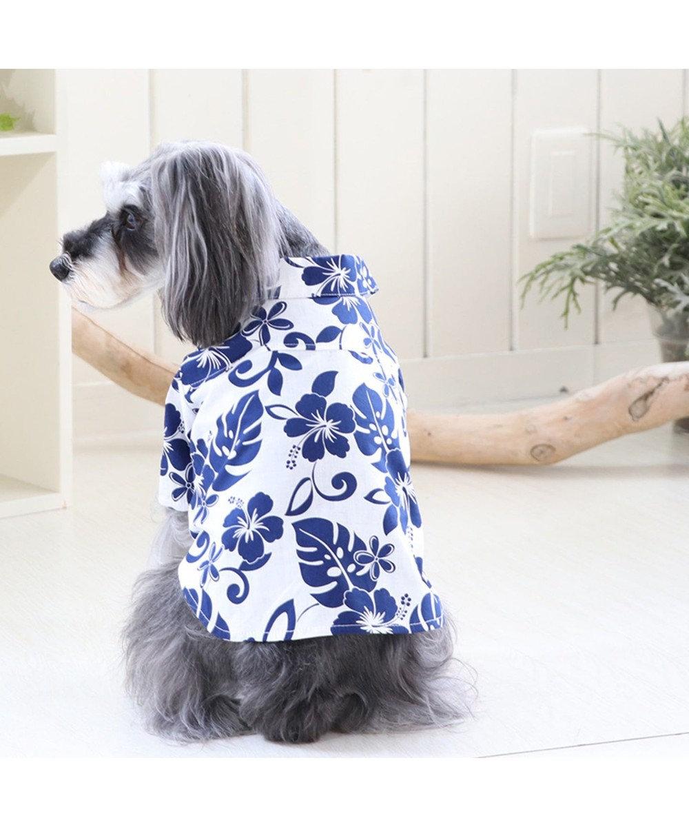 PET PARADISE J.PRESS ハワイアン シャツ 〔小型犬〕 白~オフホワイト