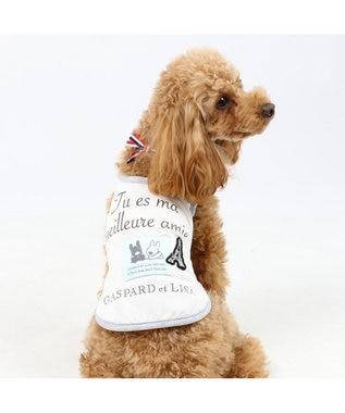 PET PARADISE リサとガスパール クールマックス タンク 〔小型犬〕リボン 接触冷感 虫よ 白~オフホワイト