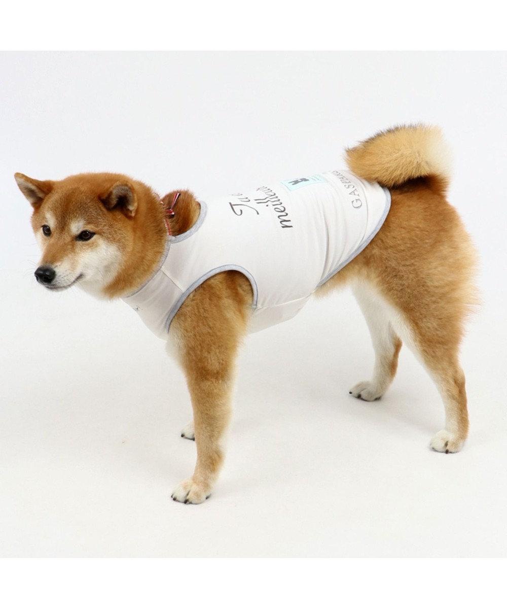 PET PARADISE リサとガスパール クールマックス タンク 〔中型犬〕リボン 接触冷感 虫よ 白~オフホワイト