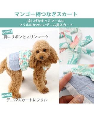 PET PARADISE ペットパラダイス クールマックス スカートつなぎ マンゴー 〔小型犬〕  接 マルチカラー