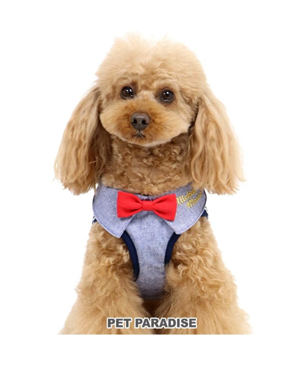 PET PARADISE ディズニー ミッキーマウス ヒッコリー ベスト ハーネス ペット3S〔小型犬 水色