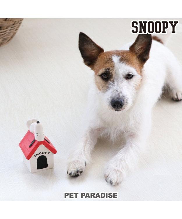 PET PARADISE スヌーピー 赤屋根 ラバー おもちゃ トイ 犬用おもちゃ
