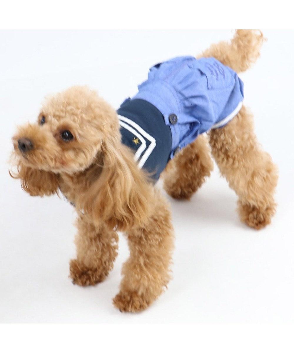 PET PARADISE ペットパラダイス マリン パンツつなぎ〔小型犬〕 紺(ネイビー・インディゴ)