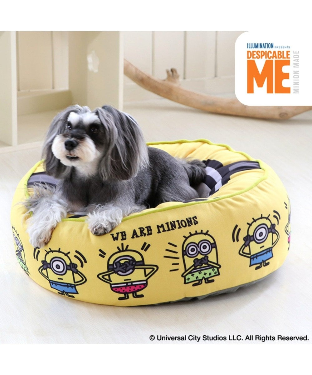 PET PARADISE ミニオン フェイス クッション ベッド ペットカドラー 黄