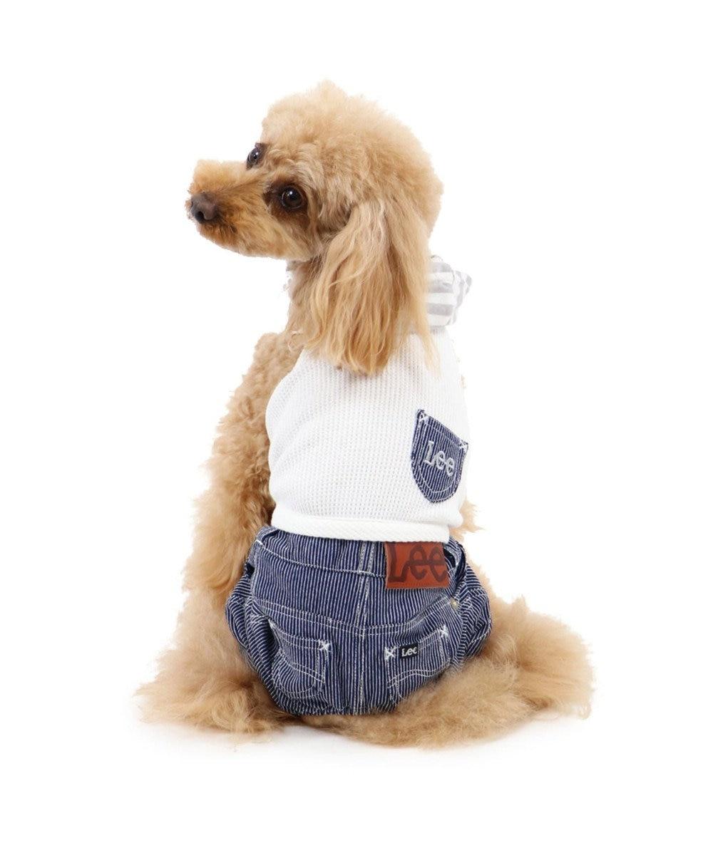 PET PARADISE Lee ワッフル フード付 パンツつなぎ〔超小型・小型犬〕 白~オフホワイト