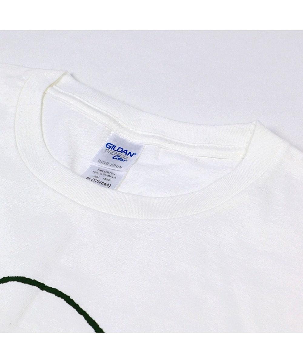 Mother garden [ネット店限定]しろたん Tシャツ 半袖 花粉じゃないよ柄 ユニセックス 白~オフホワイト
