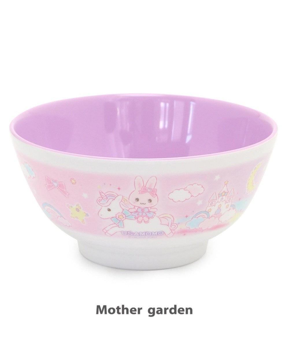 Mother garden うさもも メラミン食器 どんぶり 《ユニコーン柄》 食洗機可 0
