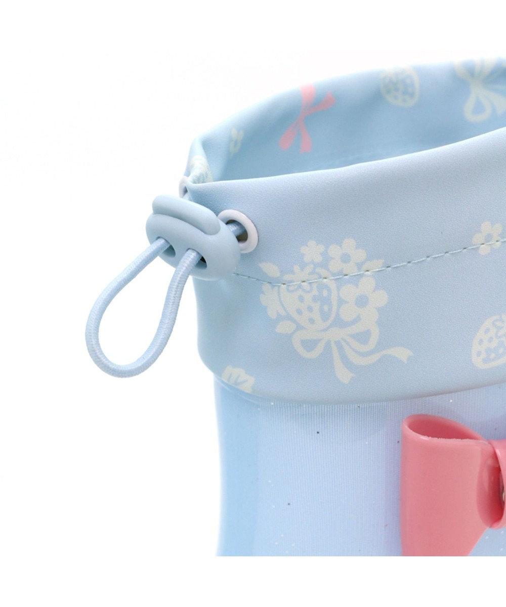 Mother garden マザーガーデン 野いちご キッズ長靴 <リボン柄>16/17/18/19 cm 水色