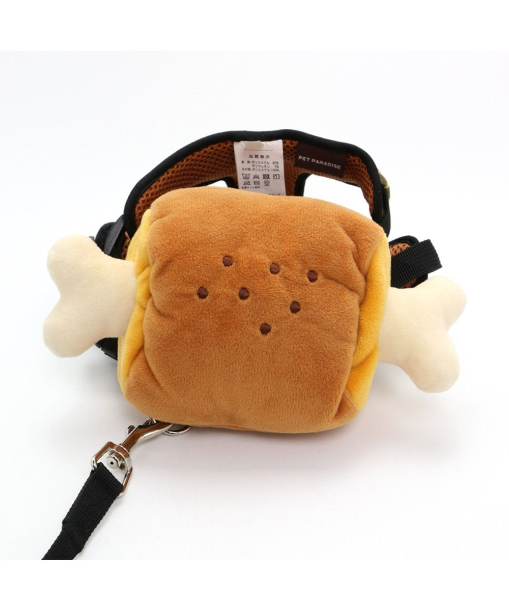 PET PARADISE ペットパラダイス 肉 リュックハーネス&リード  ペットSS 〔小型犬〕 茶系