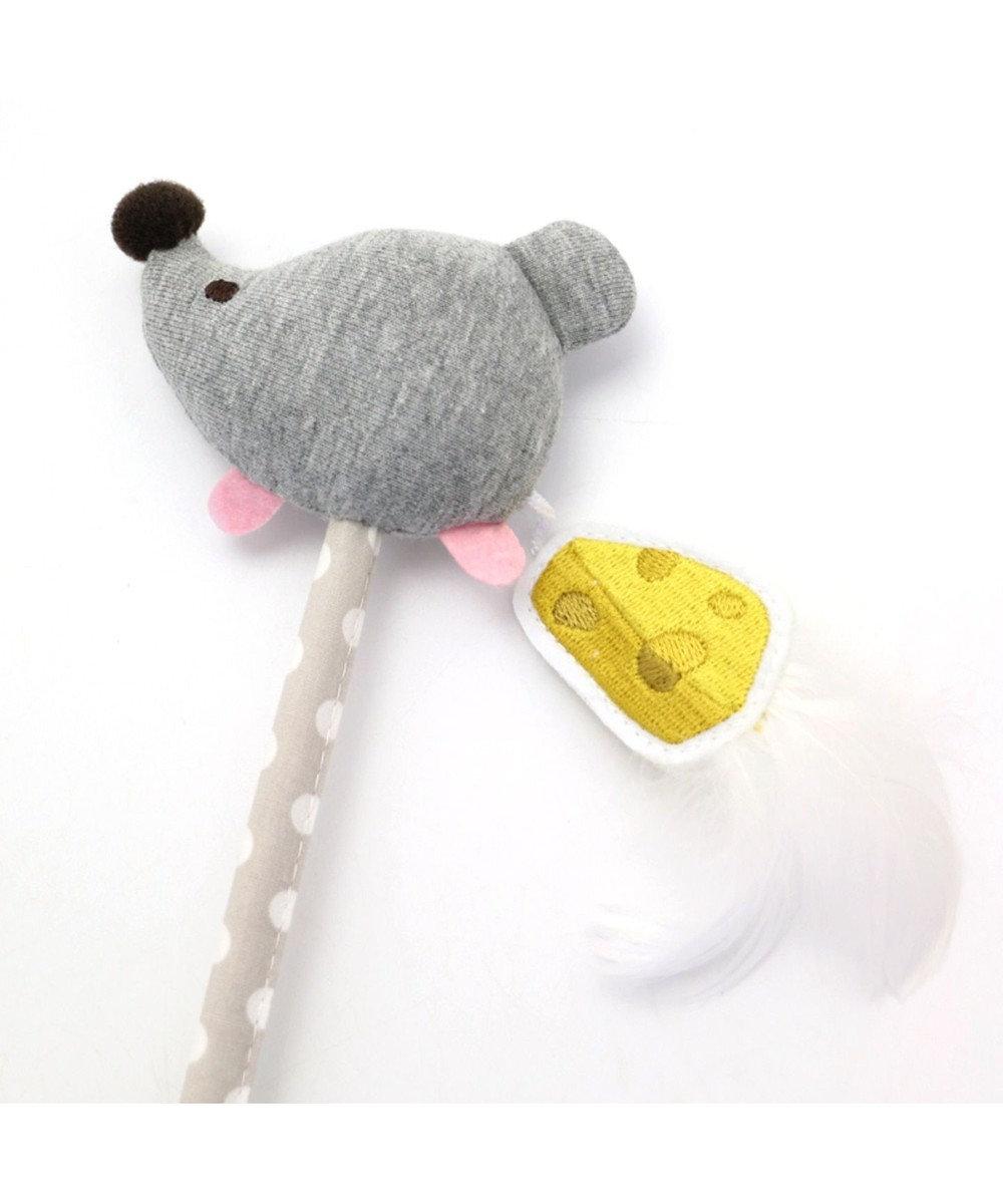 PET PARADISE ペットパラダイス  猫用おもちゃ 猫じゃらし ネズミ グレー