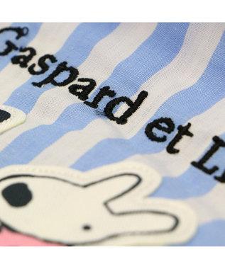 PET PARADISE リサとガスパール ストライプ サロペット パンツつなぎ〔小型犬〕 水色