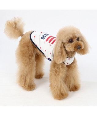 PET PARADISE J.PRESS  クールマックス 接触冷感 星条旗 タンク 〔小型犬〕 白~オフホワイト