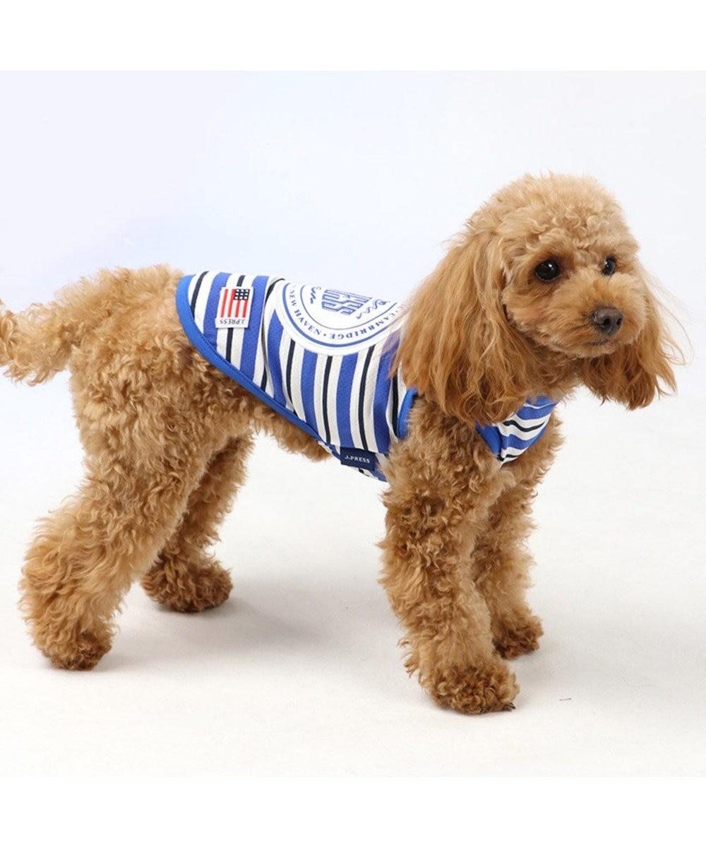 PET PARADISE J.PRESS クールマックス 接触冷感 虫よけ タンク〔小型犬〕 青