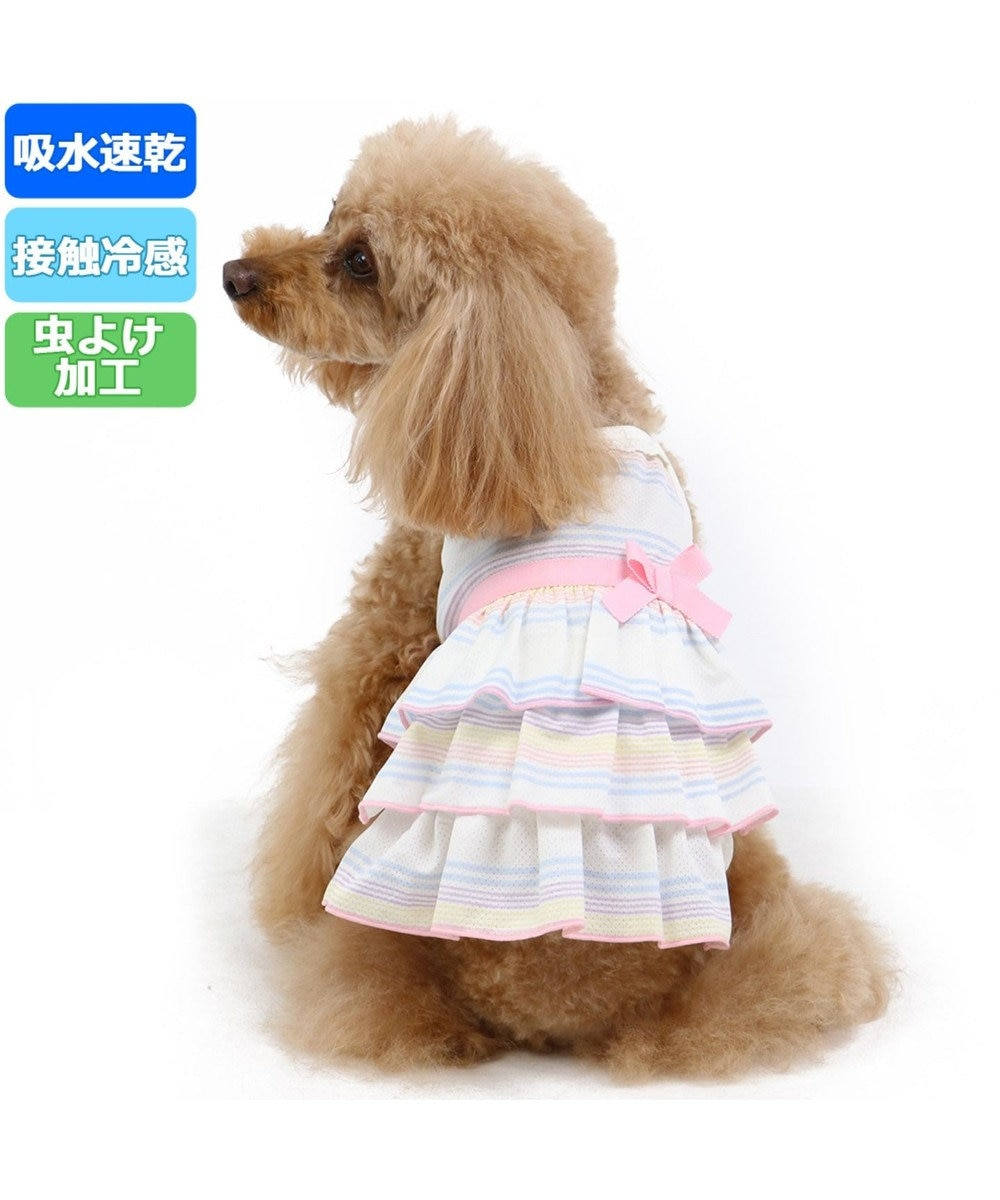 PET PARADISE ペットパラダイス クールマックス 接触冷感 虫よけ キャミ〔小型犬〕 ピンク(淡)