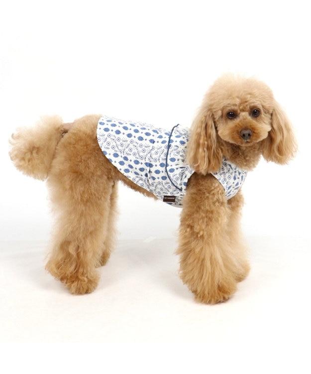 PET PARADISE ペットパラダイス クールマックス 花柄 接触冷感 タンク青〔小型犬〕