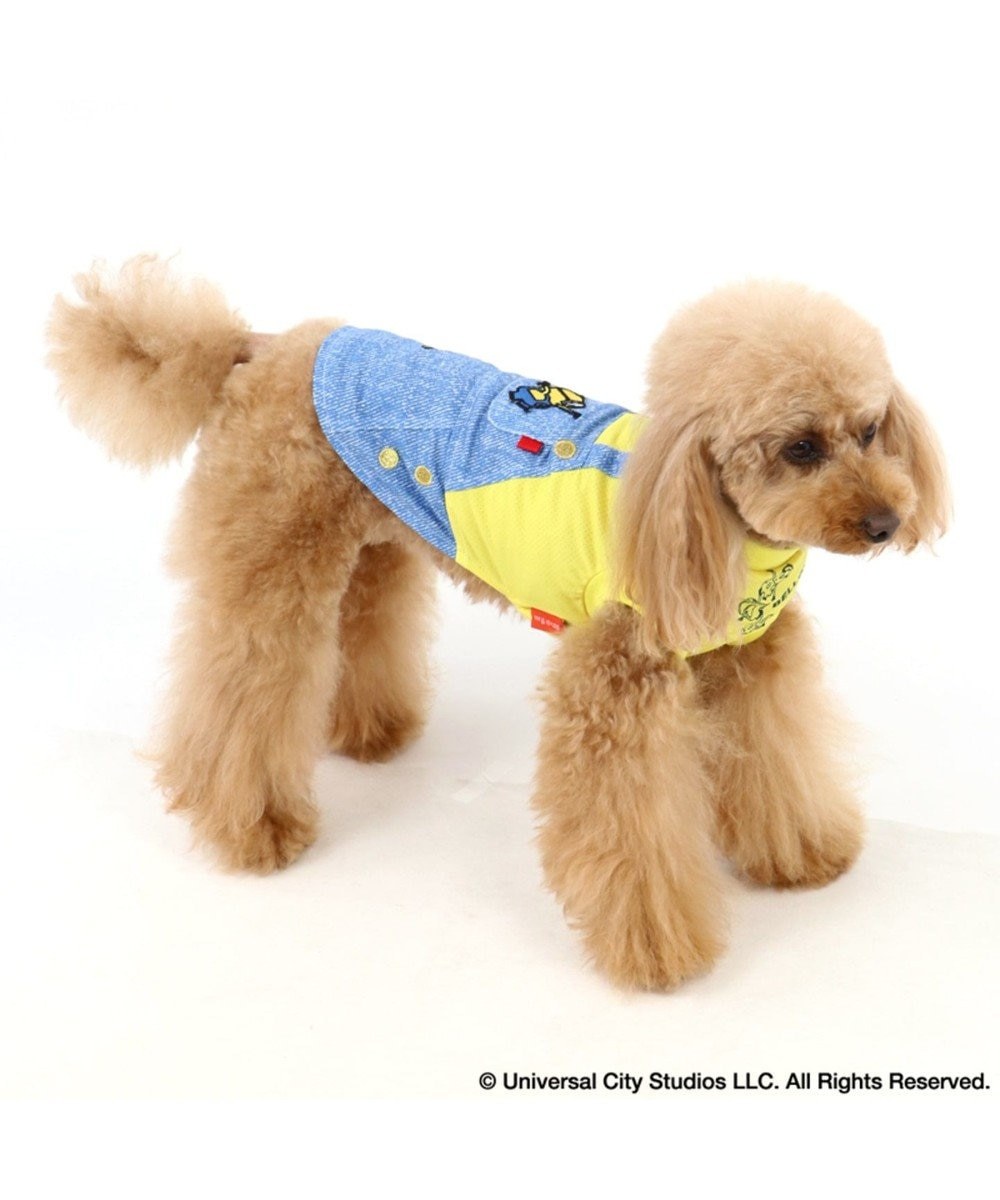 PET PARADISE ミニオン クールマックス 接触冷感 虫よけ Tシャツ〔小型犬〕 青