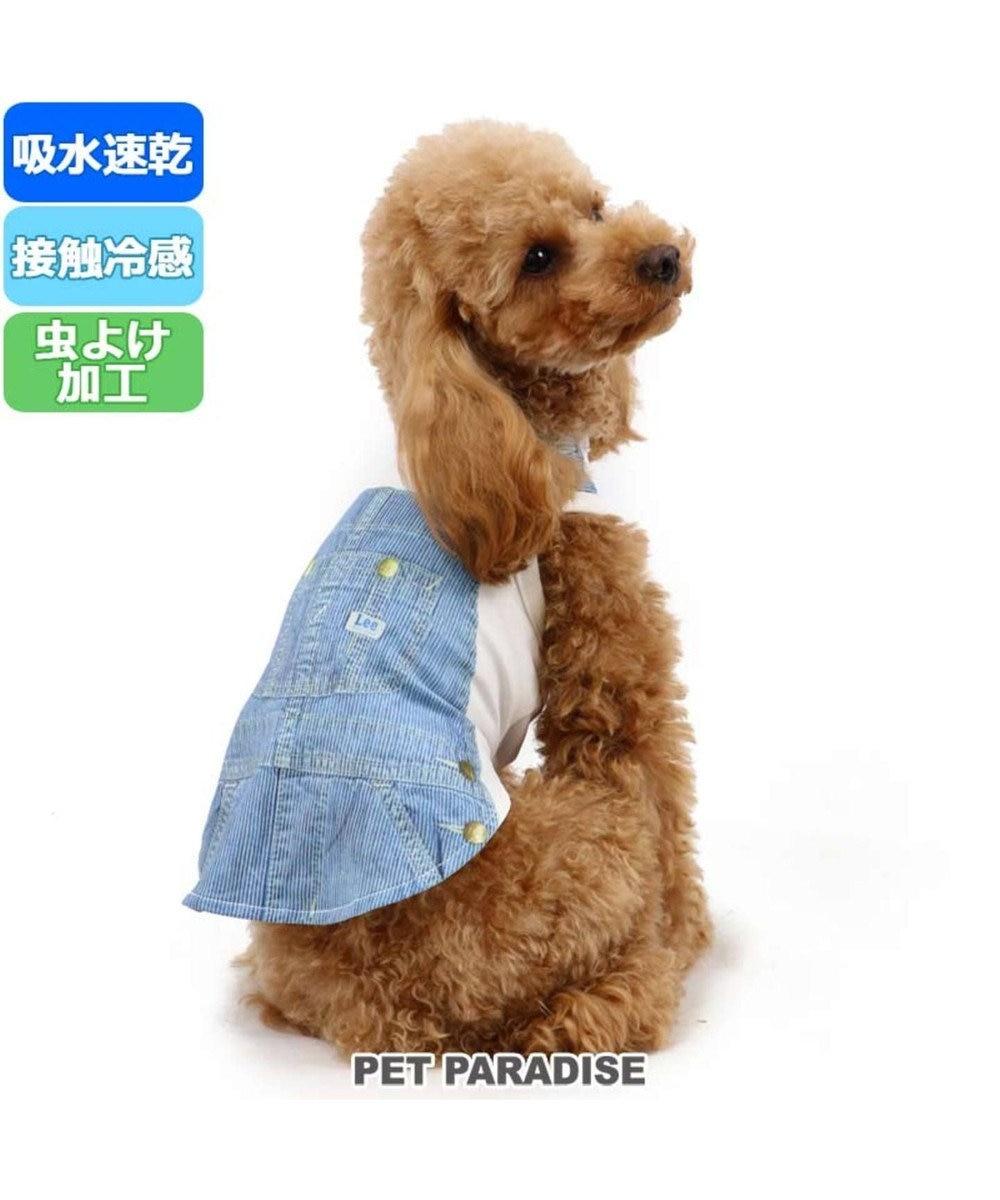 PET PARADISE Lee クールマックス ヒッコリー タンクトップ 〔中型犬〕 白~オフホワイト