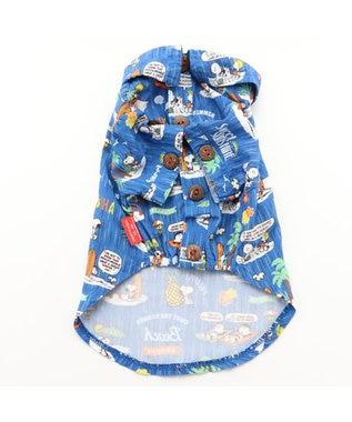 PET PARADISE スヌーピー ビーチ アロハシャツ〔超小型・小型犬〕 紺(ネイビー・インディゴ)