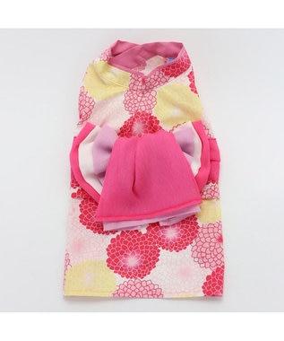 PET PARADISE ペットパラダイス 菊柄 浴衣 ポケットクール〔中・大型犬〕 ピンク(濃)