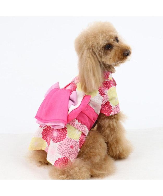 PET PARADISE ペットパラダイス 菊柄 浴衣 ポケットクール〔中・大型犬〕