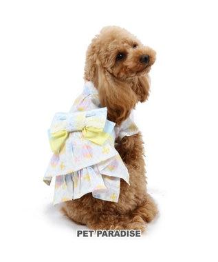 PET PARADISE ペットパラダイス 手まり柄 浴衣 〔超小型・小型犬〕 白~オフホワイト