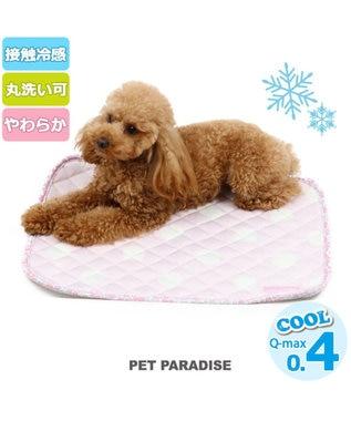 PET PARADISE ペットパラダイス ペット用マットS クール柔らかマット 水玉 ピンク(淡)