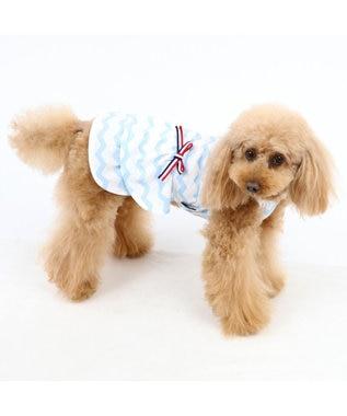 PET PARADISE ペットパラダイス タッチワンクール ワンピ 接触冷感[小型犬] 水色