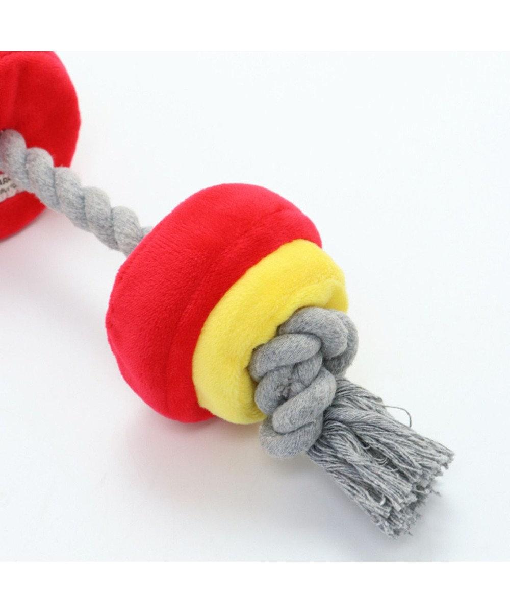 PET PARADISE ペットパラダイス バーベル 赤 犬用おもちゃ おもちゃ トイ 赤