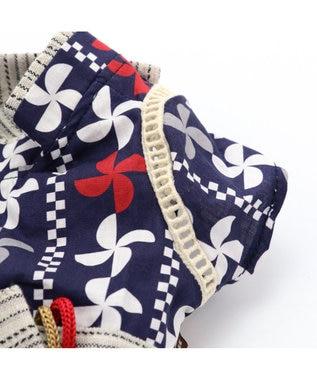 PET PARADISE ペットパラダイス 幾何学 浴衣 〔超小型・小型犬〕 紺(ネイビー・インディゴ)