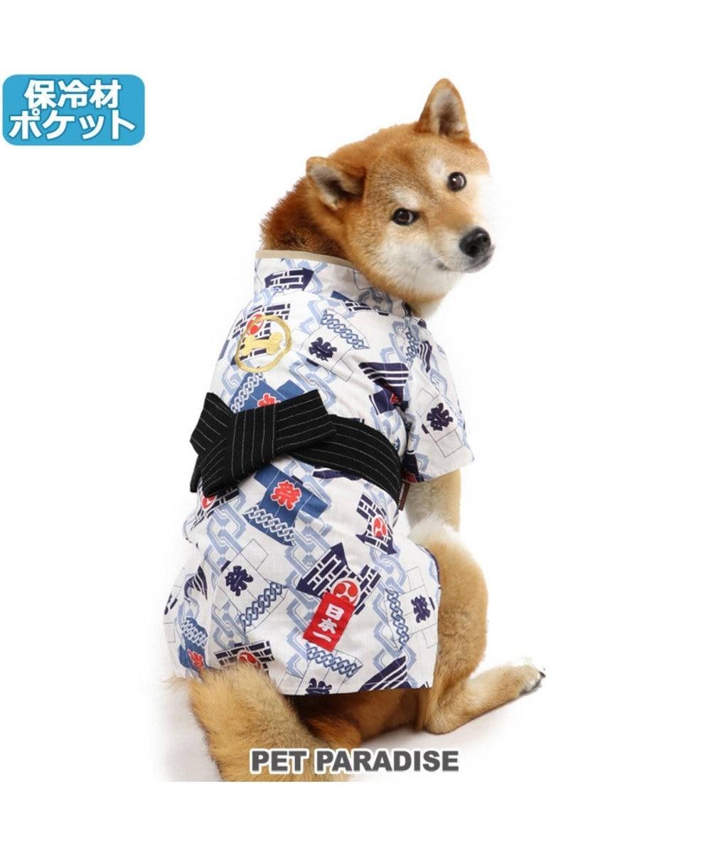 PET PARADISE ペットパラダイス 祭り 浴衣 ポケットクール 〔中・大型犬〕 青