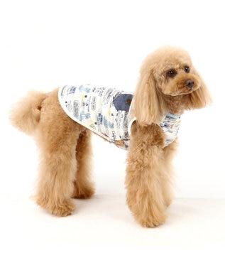 PET PARADISE スヌーピー クールマックス タンク [小型犬] パイン柄 水色