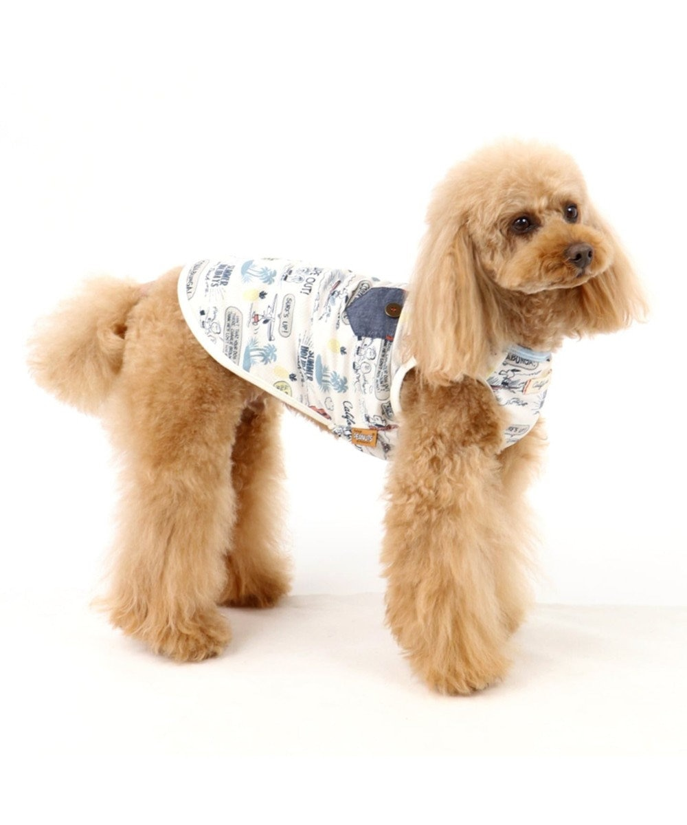PET PARADISE スヌーピー クールマックス タンク [中・大型犬] 水色