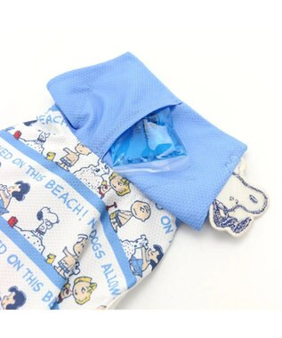 PET PARADISE スヌーピー ポケットクール タンク[小型犬] 水色