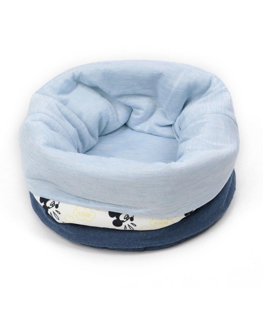 PET PARADISE ミッキーマウス クール くるっと カドラー (40×40cm) 夏 ひんやり 白~オフホワイト