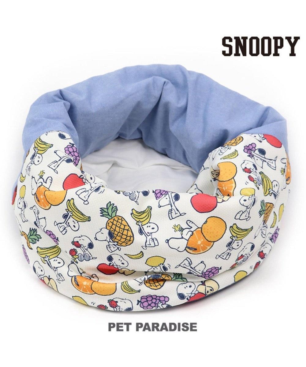PET PARADISE スヌーピー フルーツ クール くるっと カドラー  (55×55cm)夏 ひんやり マルチカラー