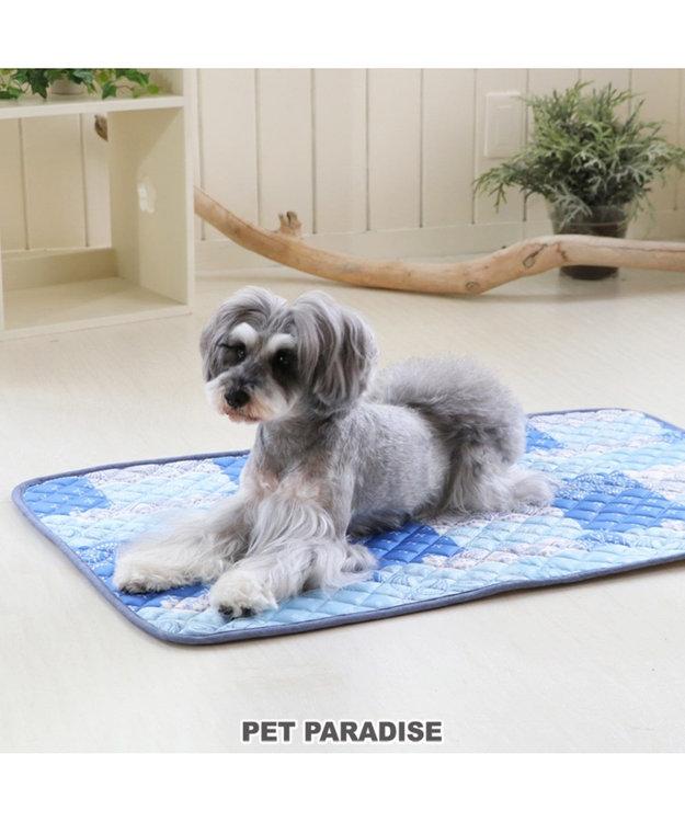 PET PARADISE ペットパラダイス接触冷感 パッチワーク柄 クール ブランケット