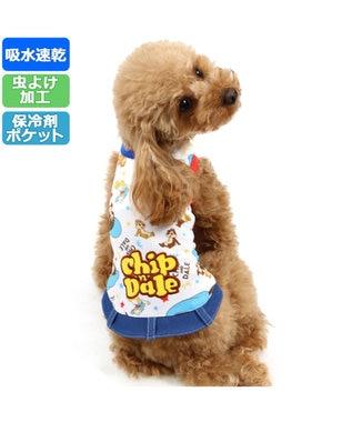 PET PARADISE チップとデール ポケットクール タンクトップ〔超小型・小型犬〕 白~オフホワイト